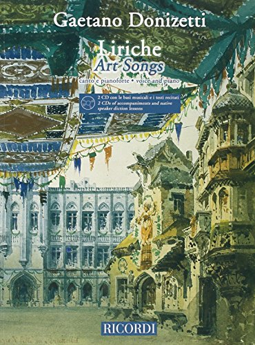9780041397932: Partitions classique RICORDI DONIZETTI G. - LIRICHE - ART SONGS + 2CD - CHANT ET PIANO Voix solo, piano