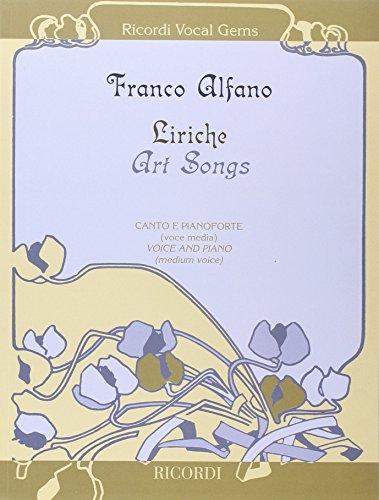 9780041400137: RICORDI ALFANO F. - LIRICHE - ART SONGS - CHANT, PIANO Classical sheets Choral and vocal ensembles