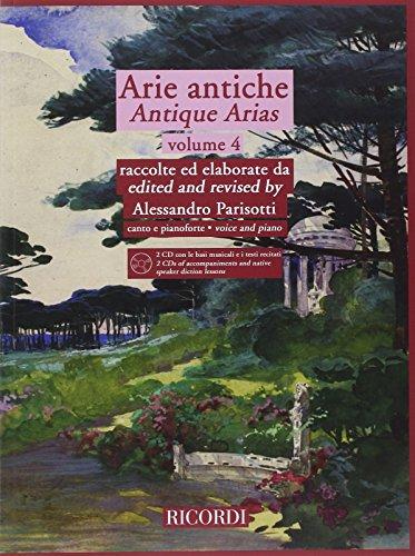 9780041403251: PARISOTTI - Arias Antiguas Vol.4 para Canto y Piano (Inc.CD)