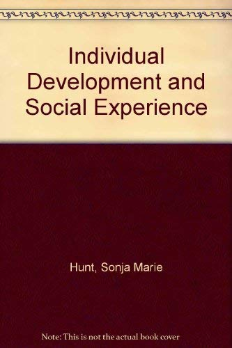 9780041500561: Individual Development and Social Experience