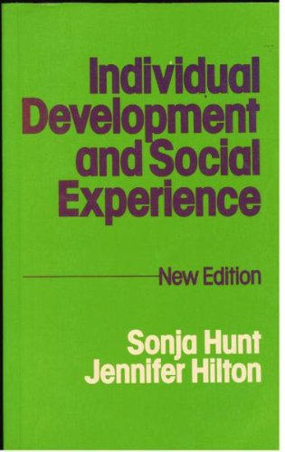 9780041500776: Individual Development and Social Experience