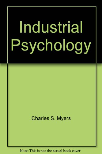 Industrial Psychology: Joseph Tiffin, Ernest