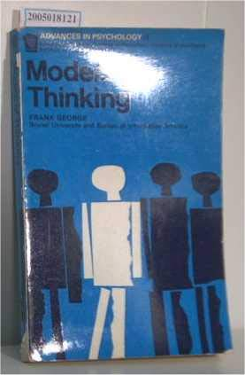 9780041530056: Models of Thinking (Advances in Psychology)