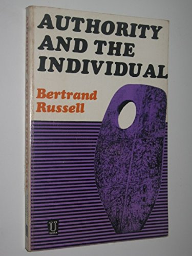 9780041700152: Authority and the Individual
