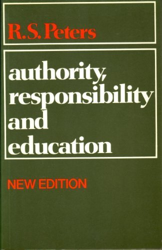 9780041700282: Authority, Responsibility and Education