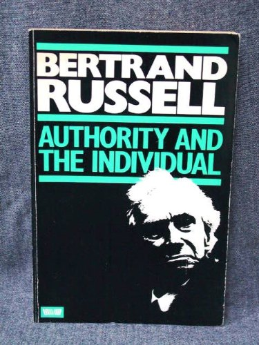 9780041700305: Authority and the Individual