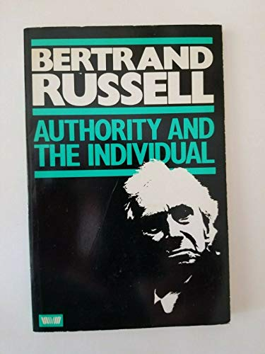 9780041700312: Authority and the Individual