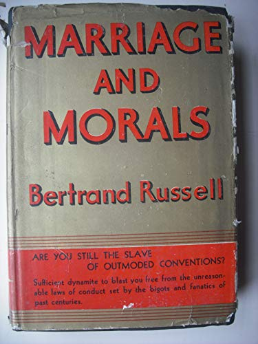 9780041730012: Marriage and Morals