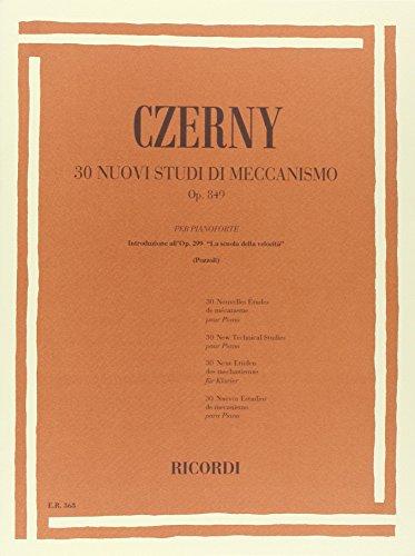 9780041803631: CZERNY - Op. 849 Estudios de Mecanismo para Piano (Pozzoli)