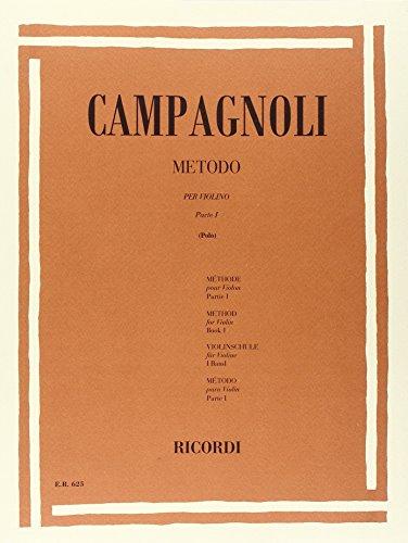9780041806250: CAMPAGNOLI - Metodo Vol.1 para Violin (Polo)