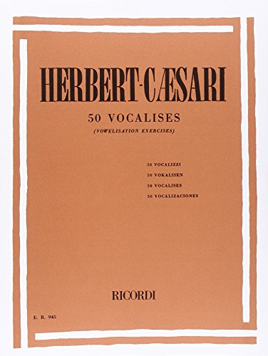 9780041809459: RICORDI HERBERT-CAESARI E. - 50 VOCALISES - CHANT Educational books Song