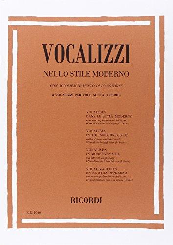 9780041810462: Vocalizzi Nello Stile Moderno. I Serie - Vocal - SCORE