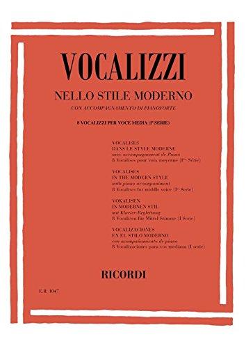 9780041810479: Vocalizzi Nello Stile Moderno. I Serie - Vocal - SCORE