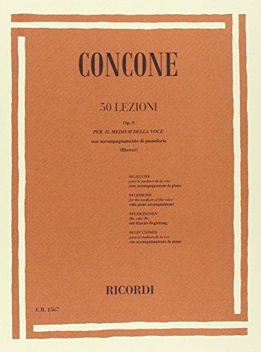 9780041815672: RICORDI CONCONE G. - 50 LEZIONI DI CANTO OP. 9 - CHANT Educational books Song