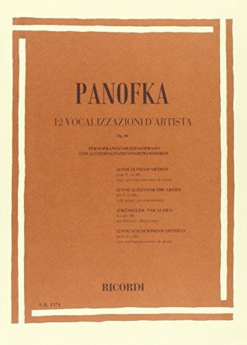 9780041815740: RICORDI PANOFKA H. - 12 VOCALIZZI D'ARTISTA OP. 86 - CHANT Educational books Song