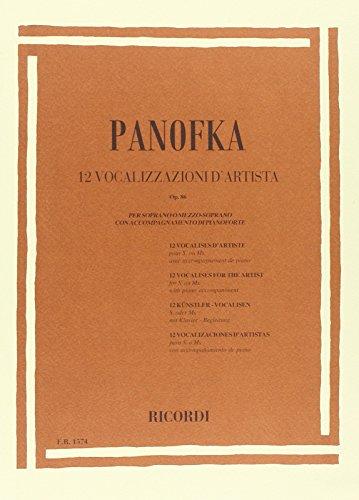 9780041815740: RICORDI PANOFKA H. - 12 VOCALIZZI D'ARTISTA OP. 86 - CHANT Educational books Song