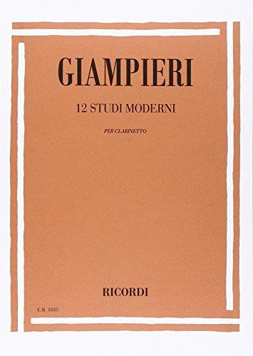 9780041818352: GIAMPIERI A. - Estudios Modernos (12) para Clarinete