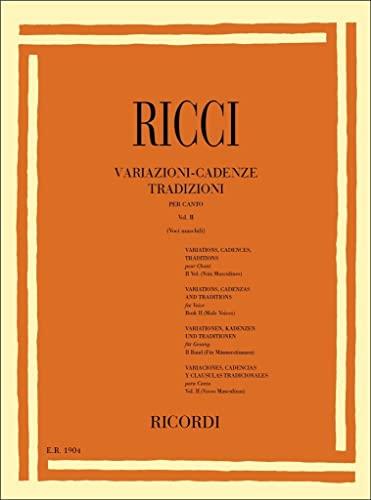 9780041819045: Variazioni - Cadenze Tradizioni per Canto Vol II