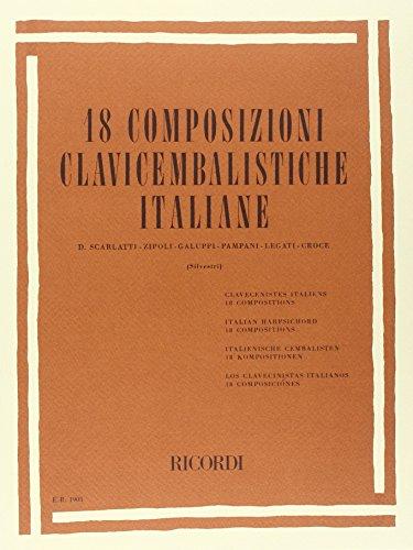 9780041819052: 18 COMPOSIZIONI CLAVICEMBALISTICHE ITALIANE