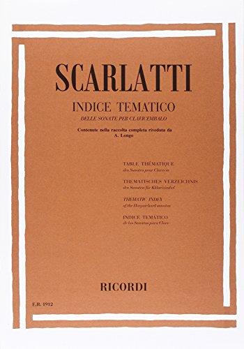 9780041819120: Scarlatti: Thematic Index of the Harpsichord Sonatas