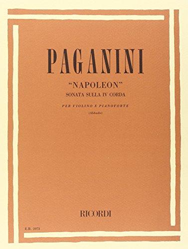 9780041820737: Partitions classique RICORDI PAGANINI N. - NAPOLEON. SONATA SULLA IV CORDA - VIOLON ET PIANO Violon