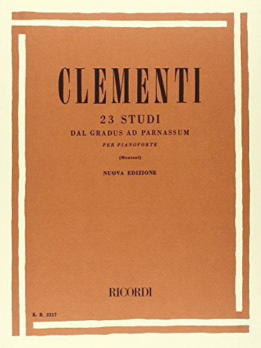 9780041823172: RICORDI CLEMENTI M. - 23 STUDI DAL GRADUS AD PARNASSUM PER PIANOFORTE - PIANO Educational books Piano