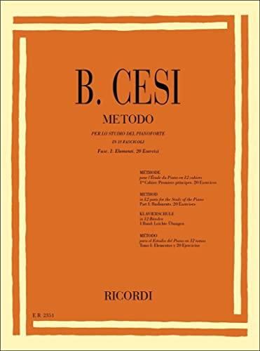 9780041823516: Metodo Per Lo Studio Del Pianoforte - Fasc. I