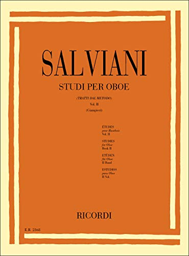 9780041823684: RICORDI SALVIANI C. - STUDI PER OBOE (TRATTI DAL METODO). VOL. II Educational books Oboe
