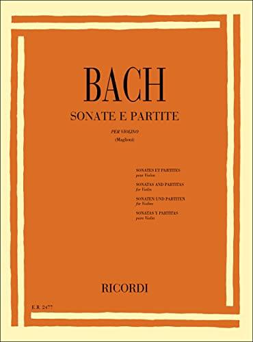 9780041824773: 6 Sonate E Partite Bwv 1001 - 1006 Per Violino Solo