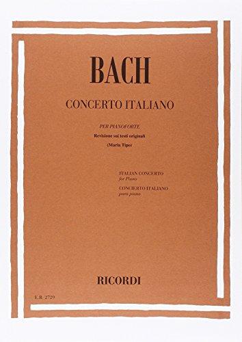 9780041827293: BACH - Concierto Italiano (BWV:971) para Piano