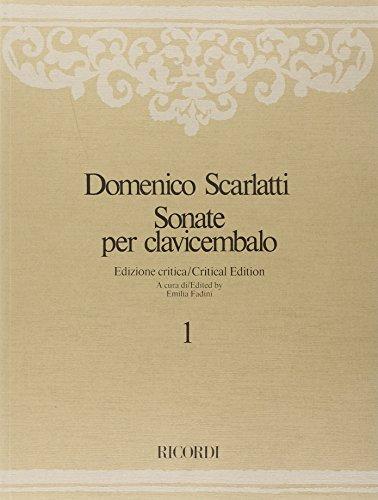 9780041827491: Partitions classique RICORDI SCARLATTI DOMENICO - SONATE PER CLAVICEMBALO - VOL. 1 Clavecin