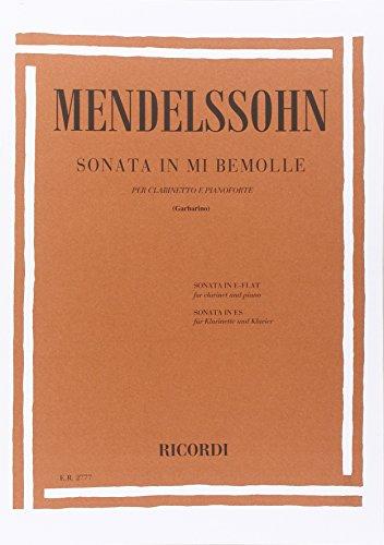 9780041827774: MENDELSSOHN - Sonata en Mib Mayor para Clarinete y Piano