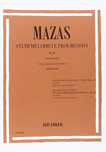 9780041827835: STUDI MELODICI E PROGRESSIVI OP. 36 - VOL.II: STUDI BRILLANTI