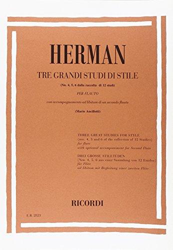 9780041828238: 3 Grandi Studi Di Stile - Flute - SCORE