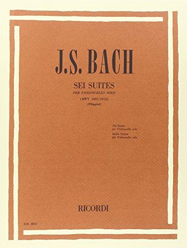 9780041828528: 6 SUITES PER VIOLONCELLO SOLO BWV 1007 - 1012