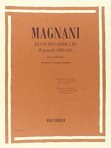 9780041828542: RICORDI MAGNANI A. - 10 STUDI CAPRICCIO DI GRANDE DIFFICOLTA - CLARINETTE SOLO Méthode et pédagogie Bois Clarinette