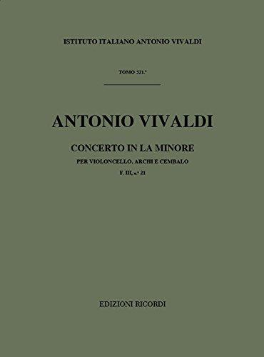 9780041911961: Partitions classique RICORDI VIVALDI A. - CONCERTI IN LA MIN. RV 420 - VIOLONCELLE, CORDES ET BASSE CONTINUE Violoncelle