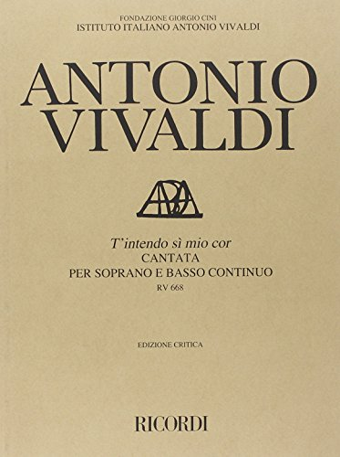 9780041912654: Librairie, papeterie, dvd... RICORDI VIVALDI A. - T'INTENDO SI', MIO COR RV 668 - COMMENTAIRE CRITIQUE Technique