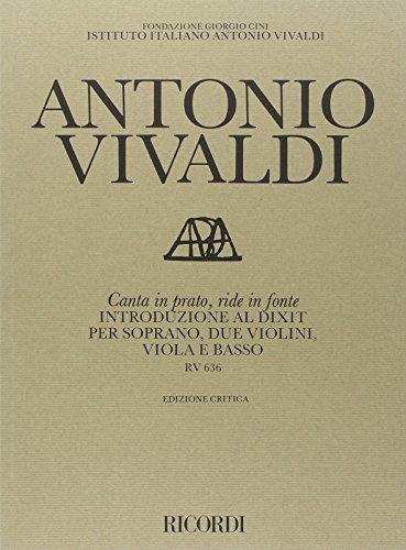 9780041912722: Librairie, papeterie, dvd... RICORDI VIVALDI A. - CANTA IN PRATO, RIDE IN FONTE RV 636 - COMMENTAIRE CRITIQUE Technique