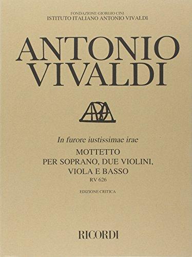 9780041912784: Partitions classique RICORDI VIVALDI A. - IN FURORE JUSTISSIMAE IRAE RV 626 - COMMENTAIRE CRITIQUE Soprano, instruments