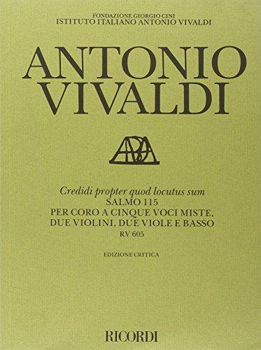 9780041913200: Credidi Propter Quod Locutus Sum. Salmo 115 Rv 605