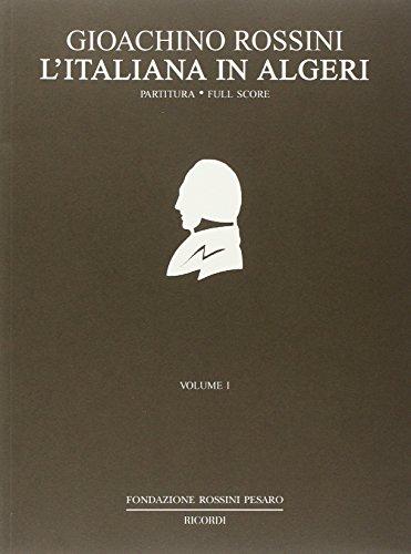 9780041913965: RICORDI ROSSINI G. - L'ITALIANA IN ALGERI - CONDUCTEUR Classical sheets Full score