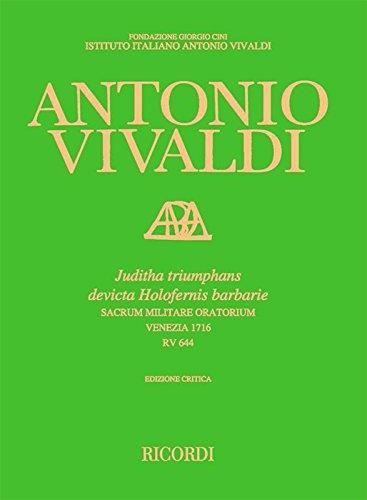 9780041914009: Juditha Triumphans Rv 644 - Ediz. Critica Delle Opere Di Vivaldi - SCORE