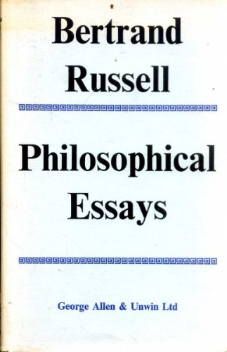 9780041920161: Philosophical Essays
