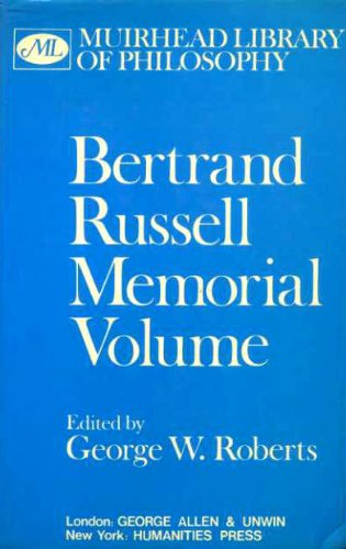 9780041920345: Bertrand Russell: Memorial Volume (Muirhead Library of Philosophy)
