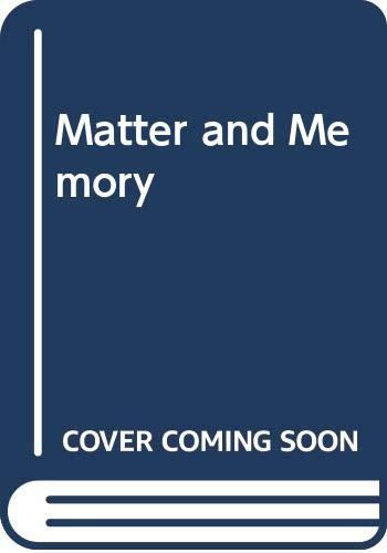 9780041940039: Matter and Memory