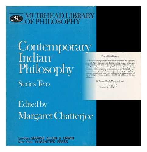 9780041990058: Contemporary Indian Philosophy: Series Two (Muirhead Library of Philosophy)
