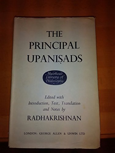 9780042940465: Upanishads: Principal Upanishads (Muirhead Library of Philosophy)