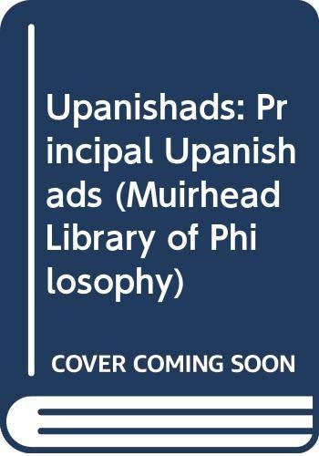9780042940472: The Principal Upanisads (Muirhead Library of Philosophy): Principal Upanishads