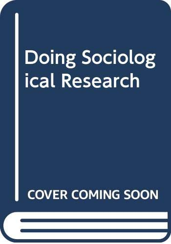 9780043000700: Doing Sociological Research